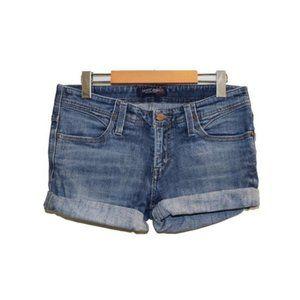 Levis Dark Wash Rolled Hem Short Jean Shorts